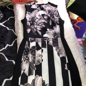 Dresses & Skirts - Black/gray/white knee length dress
